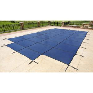 Blue Wave 18-ft x 36-ft Rectangular In Ground Pool Safety Cover w/ 4-ft x 8-ft Center Step - Blue