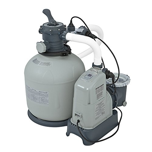Intex 120v Krystal Clear Sand Filter Pump Saltwater System Cg 28679 With E C O