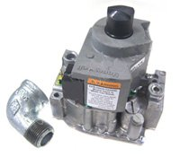 Zodiac R0455200 Natural Gas Valve with Street Elbow Replacement for Zodiac Jandy LXi Low NOx Pool and Spa Heaters