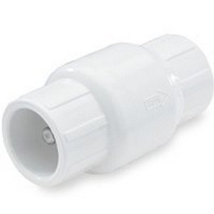 "NDS Raindrip 1"" PVC Ips Spring Check Valve S by S 5-1/4"" Length"