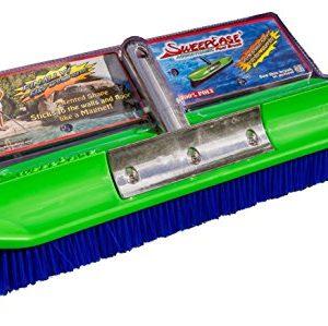 "SweepEase 18"" 100% Poly Aqua-Dynamic Pool Brush, Green, Small"