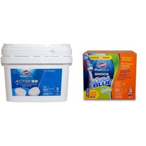 Clorox Pool&Spa Medium Pool Early Season Shock and Tab Bundle