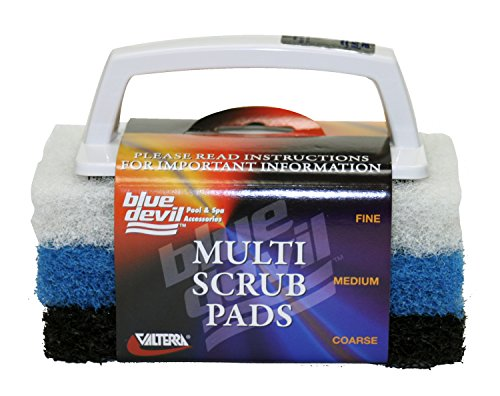 Blue Devil B8433 Multi Scrub Brush With 3 Interchangeable Pads