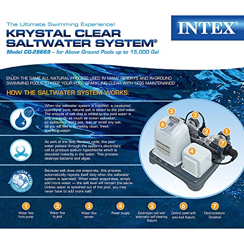 Intex 120v Krystal Clear Saltwater System Cg 28669 With E