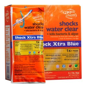 Aqua Chem 5-Pack Shock Xtra Blue for Swimming Pools, 5 Pounds