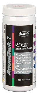 Aquachek 551236 7 way 100 count pool water test strips for How to reduce free chlorine in swimming pool