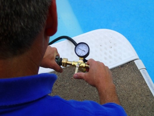 Pool Leak Detection pressure testing